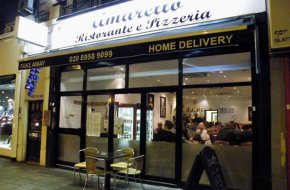 View detailed information on Amaretto Ristorante and Pizzeria, Edgware
